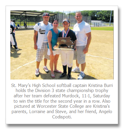 East Boston resident helps St. Mary's Burri Murdock – Spartans capture second consecutive state title