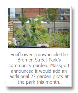 Room to grow – Massport will add plots to the Bremen Street garden