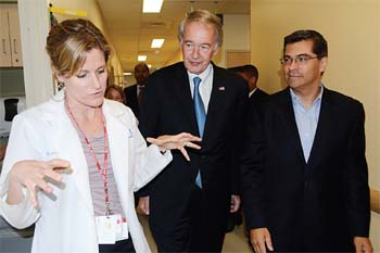 U.S. Congressman Ed Markey Makes Campaign Stop at EBNHC